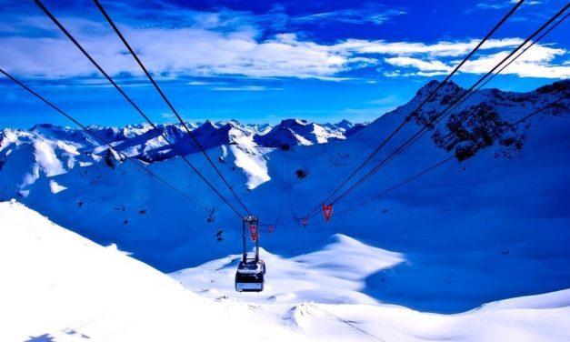 Skiën in een idyllisch landschap